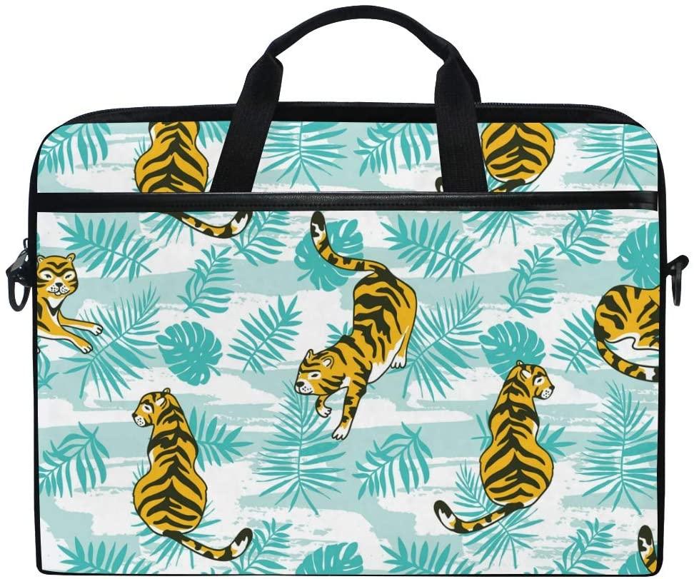 Laptop Bag Briefcase Tigers Shoulder Messenger Tablet Bag Business Carrying Handbag Working Computer Bag Fit 15-15.4 inch MacBook
