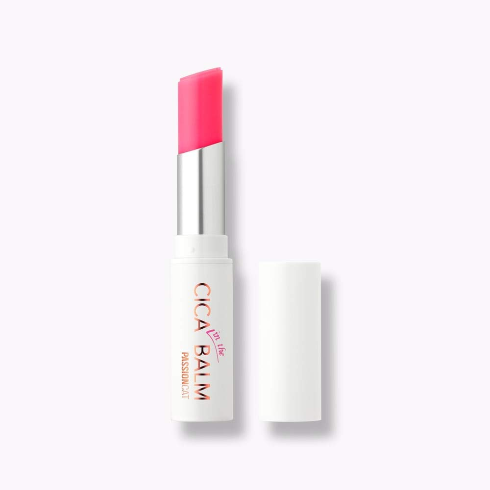 PASSIONCAT Cica in the Lip Balm No.3 Cure Pink - Cica Lip Balm Long Lasting Moisture and Plumpling Lip Gloss