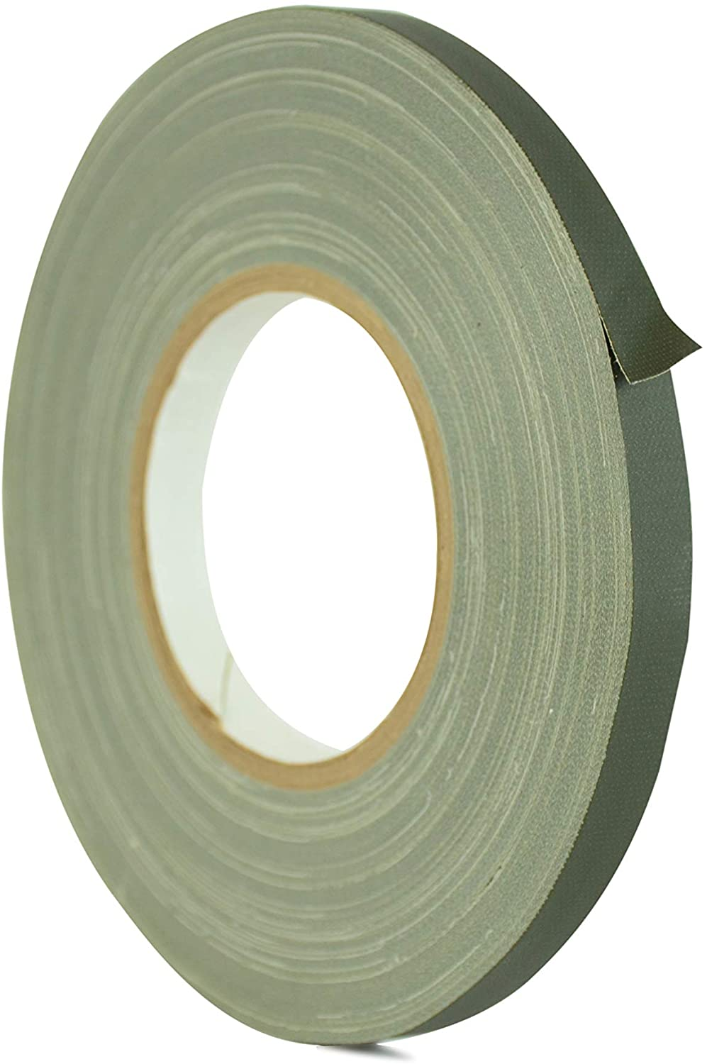WOD GTC12 Gaffer Tape, Olive Drab Low Gloss Finish Film, 3/4 inch x 60 yds. Residue Free, Non Reflective Cloth Fabric, Secure Cords, Water Resistant, Photography, Filming Backdrop, Production
