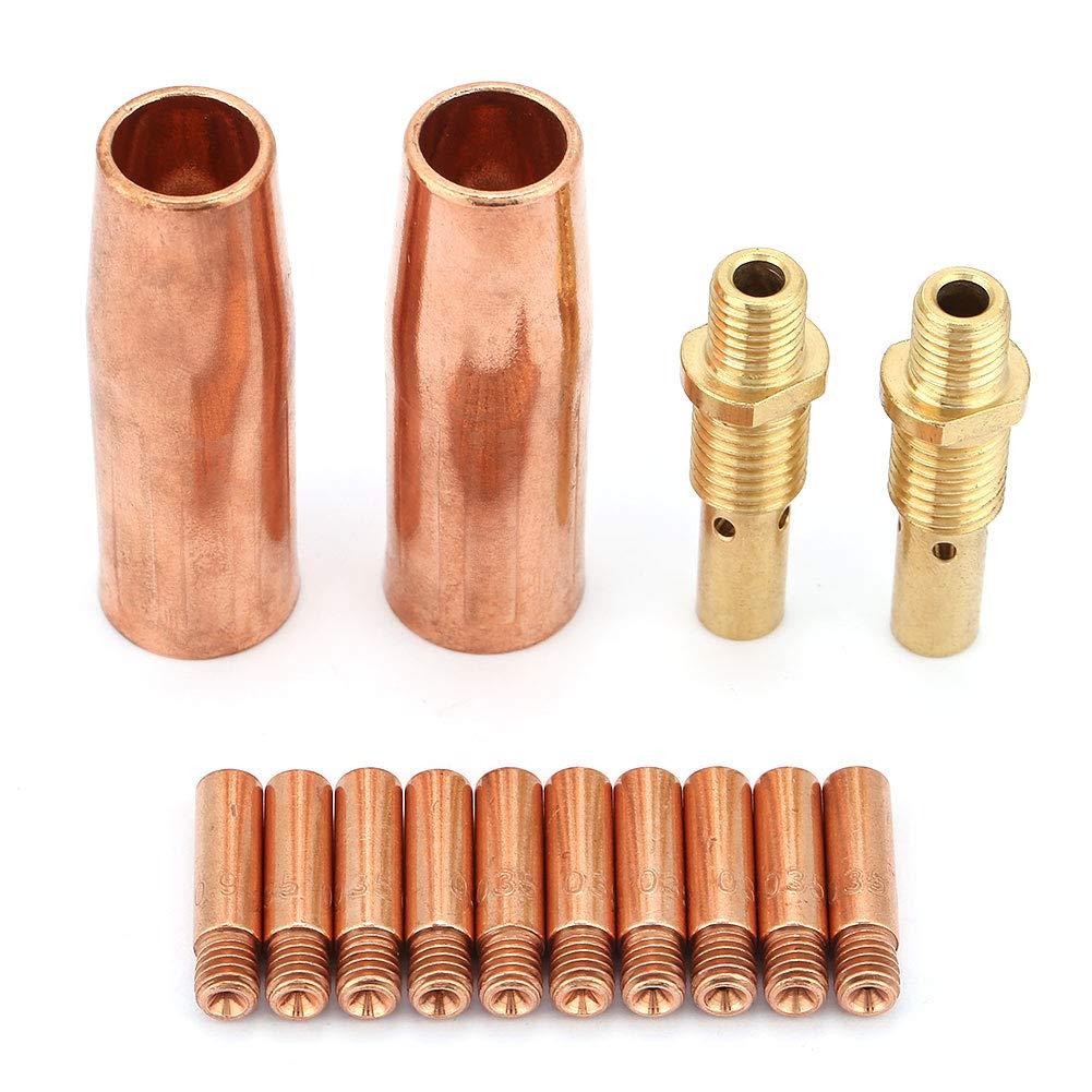 Nozzle Diffuser Tip, 14 pcs/Set Nozzle Diffuser Tip Kit for Tweco MIG Welding Gun