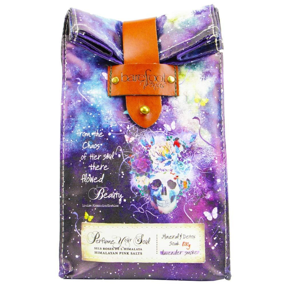 Barefoot & Venus Venus Epsom Salt Bath Soak Himalayan Pink Salts Mineral & Detox Soak - 800G ((Lavender Smoke)