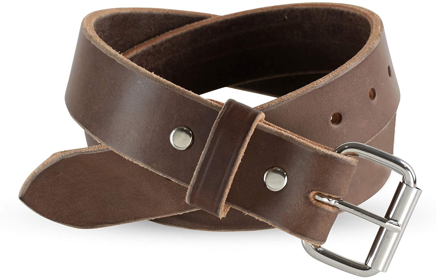 Heavy Duty Full Grain Leather Belt - 1.5 Inch Wide - Thick Leather - Made in USA