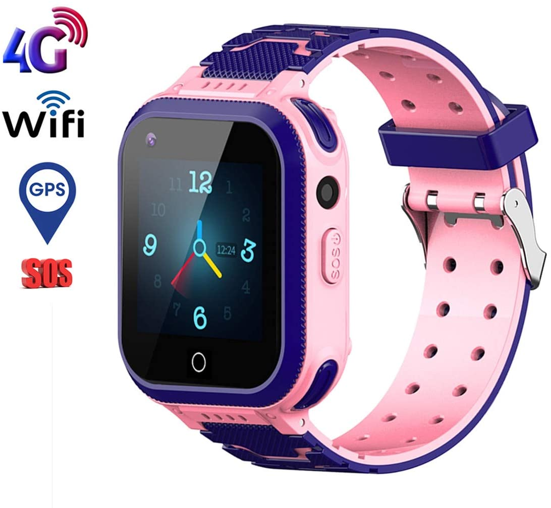 Beacon Pet Kids Smartwatch, 4G WiFi GPS LBS Tracker SOS Emergency Call Video Chat Children Smartwatches, IP67 Waterproof Phone Watch for Boys Girls, Compatible with Android/iPhon