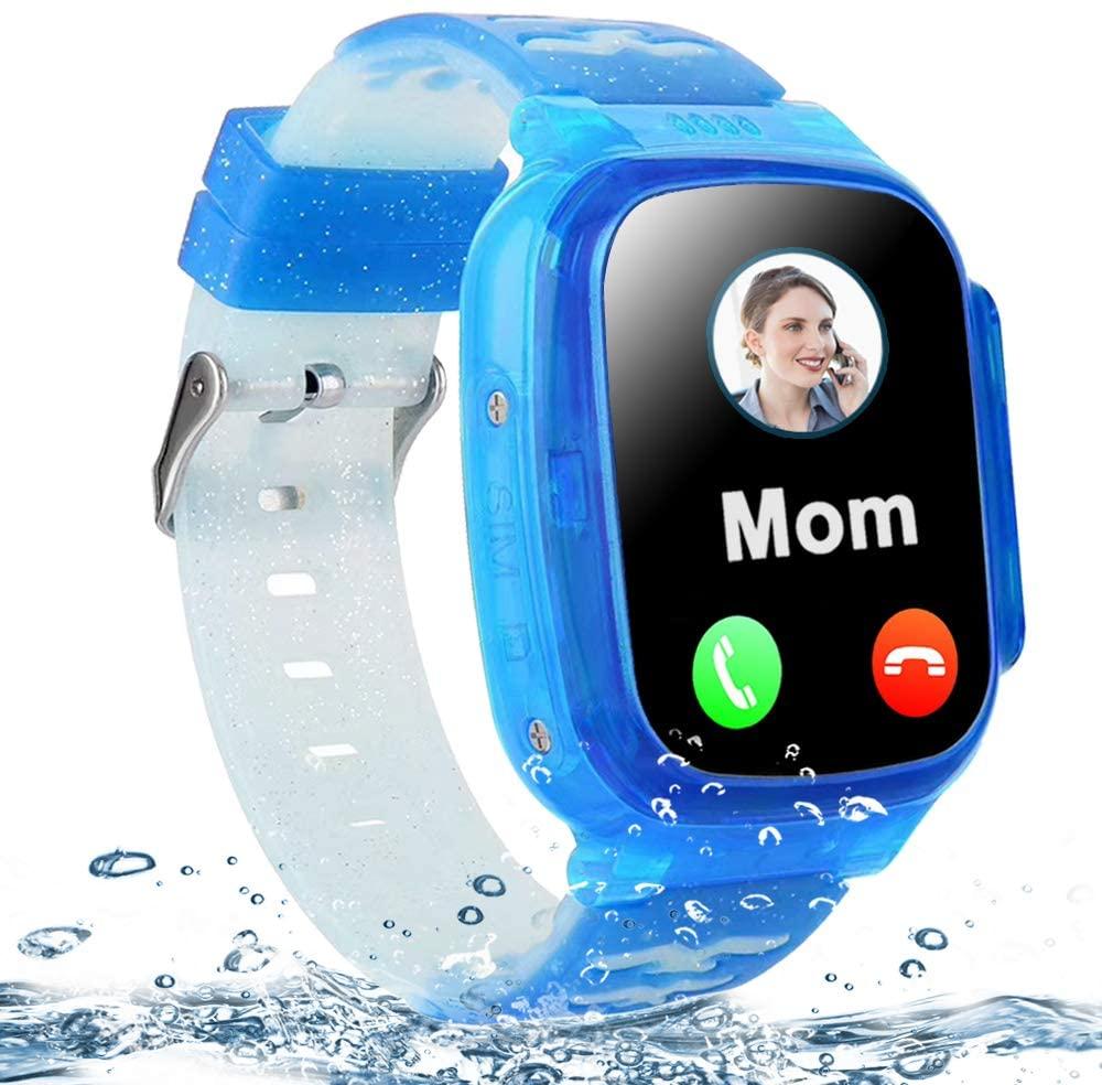 Kids Waterproof Smart Watch Phone LBS Tracker for Boys Girls 4-12 Years Old, 1.5