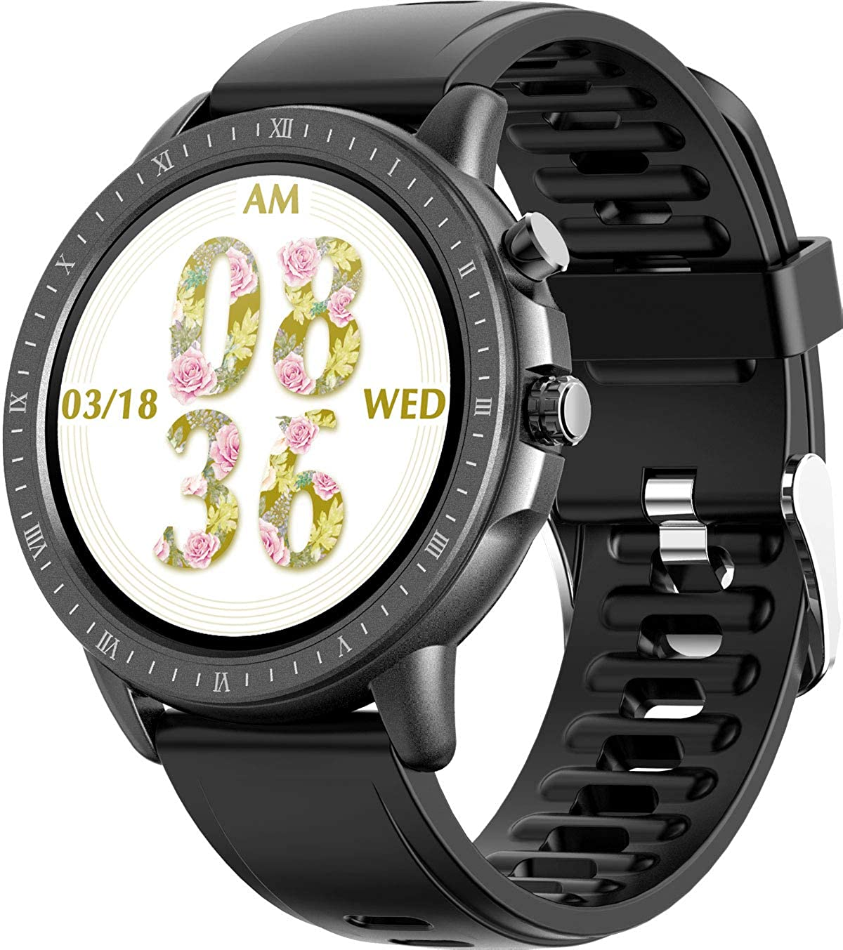 Fitness Activity Tracker Smart Watch Full Touch Exercise Smartwatch with Sleep Tracking Calorie Counter Pedometer Weather Stopwatch Pink