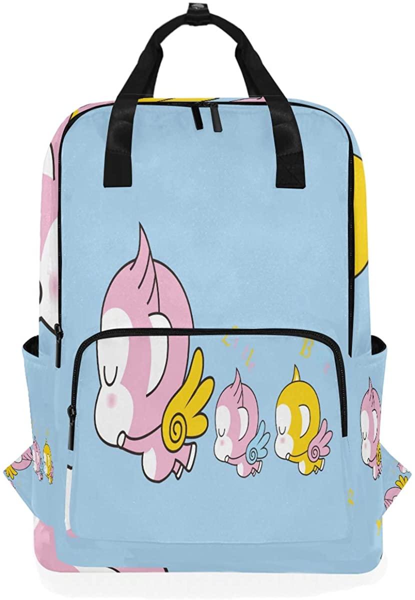 Kaariok Lovely Wing Monkey Cute Animal Backpack School Travel Daypack Laptop College Bookbag 14 Inch Doctor Bag