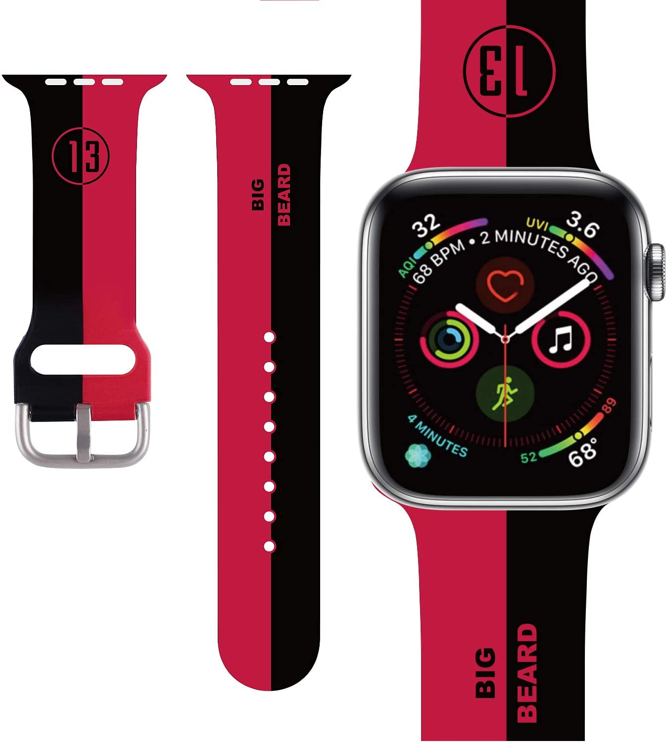 Basketball design Compatible with Apple Watch Band 38mm/40mm/42mm/44mm,Classic Cute Fashion for Kids Men Boys Character Silicone Band Compatible iWatch Series 5,Series 4,Series 3,Series 2,Series 9