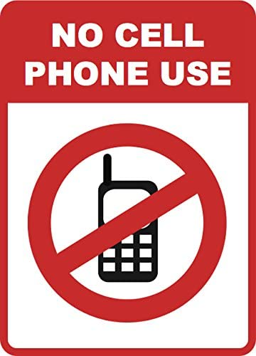 No Cell Phone Use Sign - Cellular Phones Prohibited Signs - Aluminum Metal