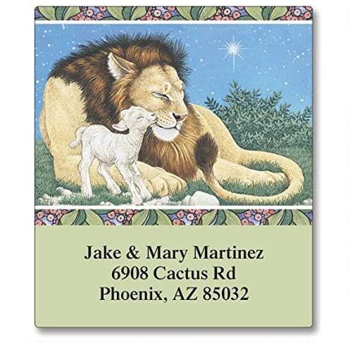 Lion & Lamb Self-Adhesive, Flat-Sheet Select Address Labels
