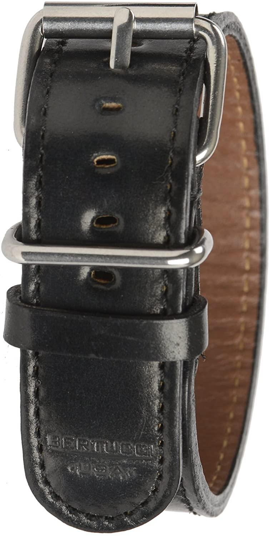 Bertucci B-199H D-Type Mens 22mm Heritage Horween Apex Black Shell Cordovan Watch Band