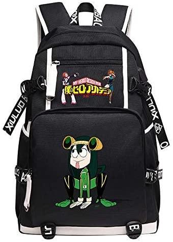 Qushy My Hero Academia Kid Adult Large Capacity Backpack Schoolbag Bookbag Daypack (Hero E)