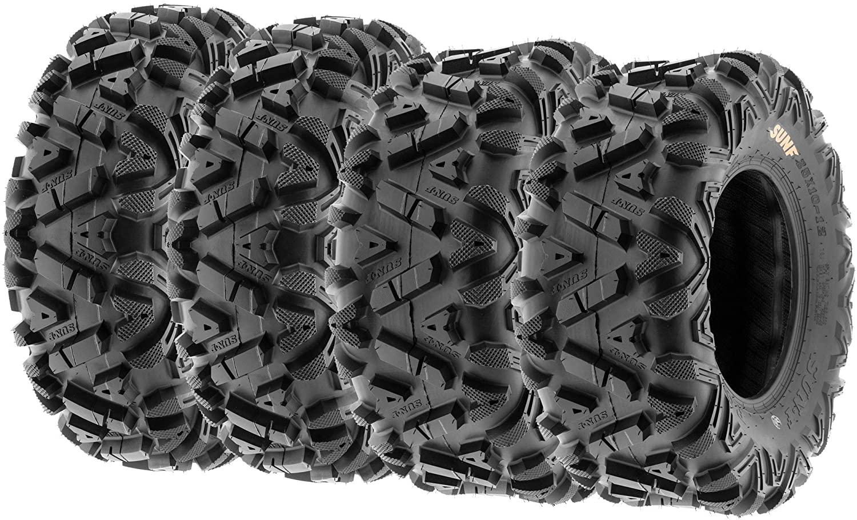 Set of 4 SunF Power.I ATV UTV all-terrain Tire 27x9x14 and 27x11x14, 6PR, 4PCS, Tubeless A033