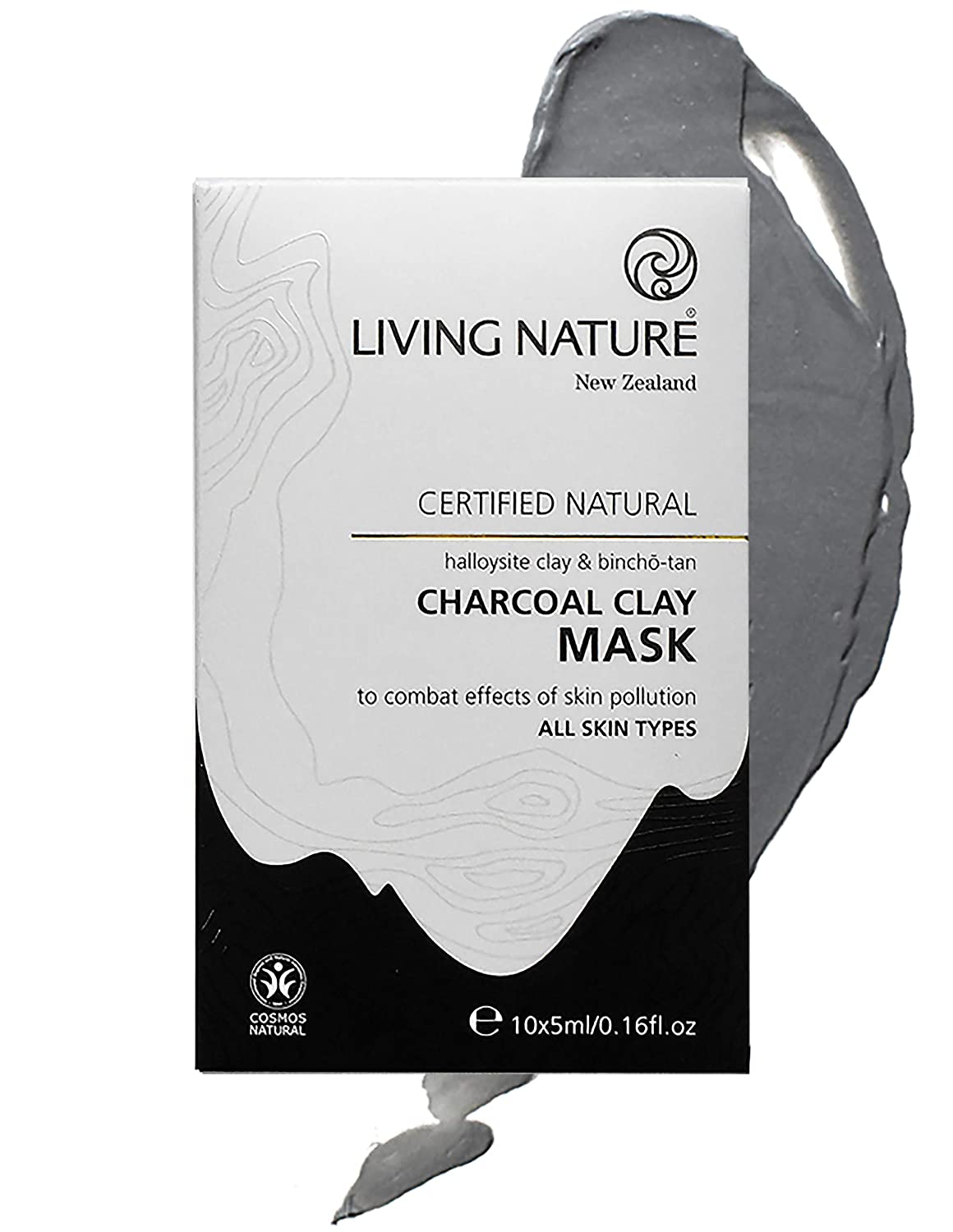 Living Nature Skin Detoxifying Charcoal Clay Face Mask -10 Pack