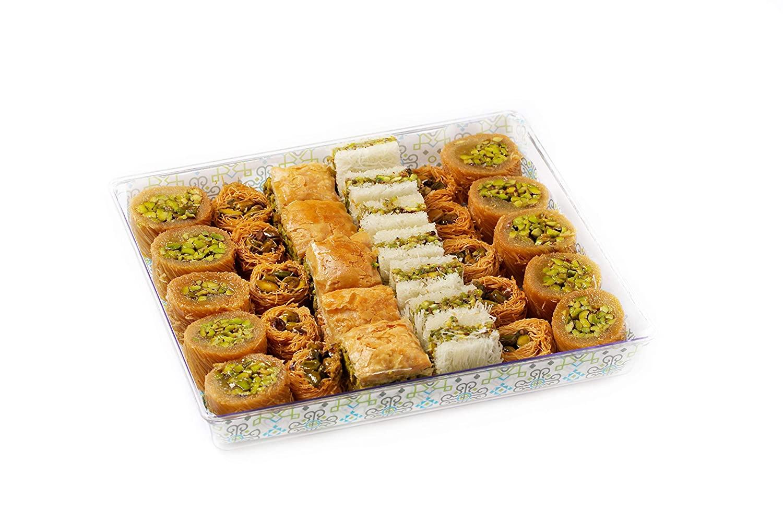 Al Bohsali 1870- Premium Pistachio Baklava Mix 32 Pieces