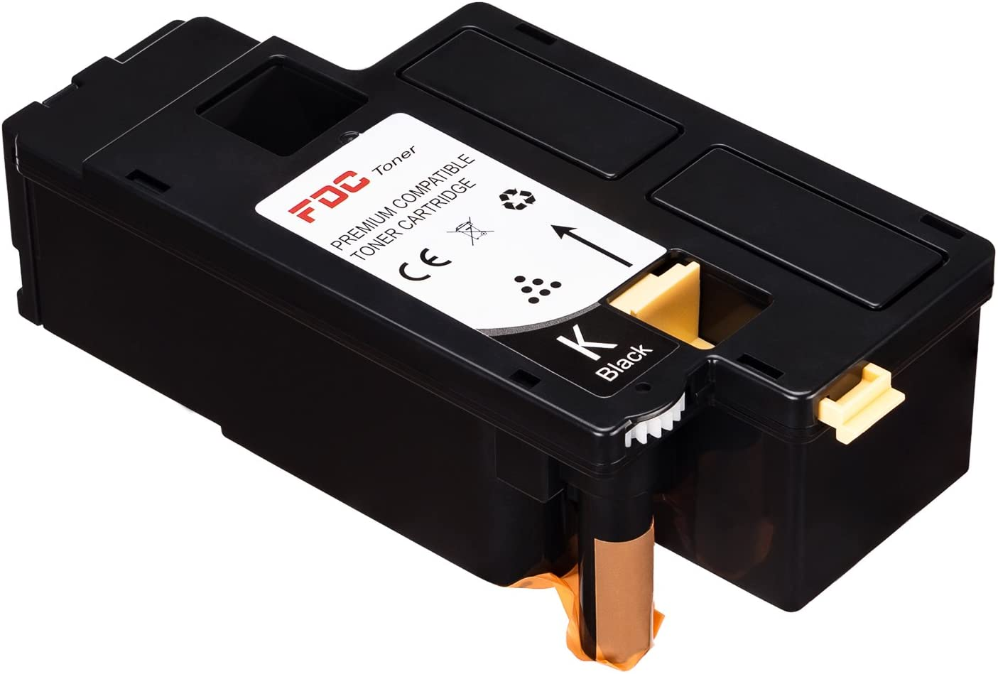 FDC Toner Compatible Dell E525W Printers Toner Cartridges 1 Pack Replacement for Black 593-BBJX, H3M8P, DPV4T