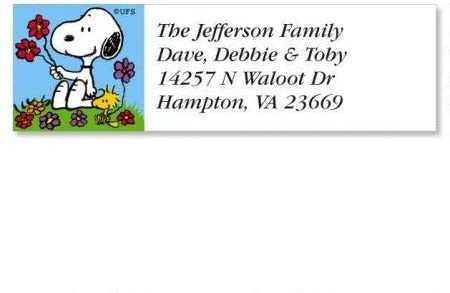 PEANUTS Year-Round Small Return Address Labels (12 Designs) - Set of 240 2