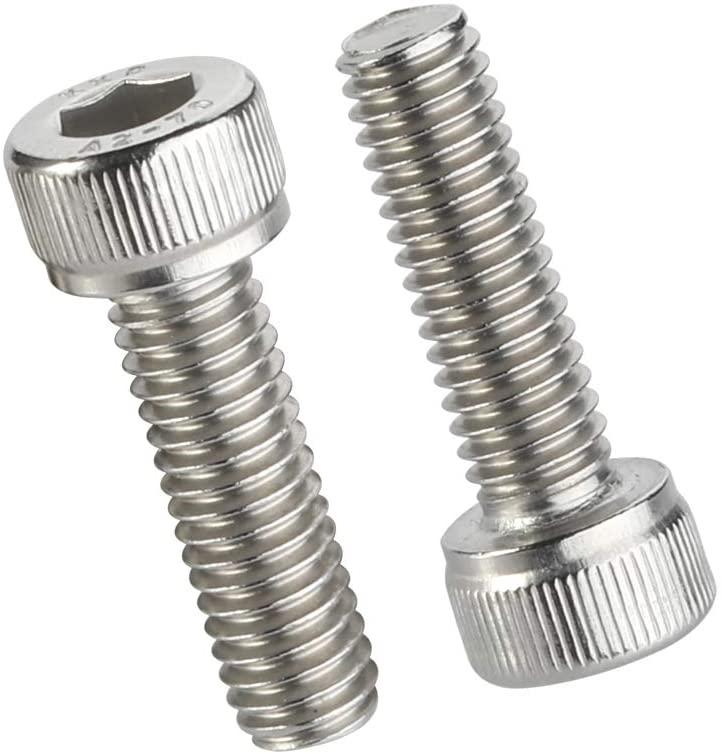 50 PCS M5-0.80 x 10MM Socket Head Cap Screw, Full Thread Screws, Allen Socket Drive, Stainless Steel 18-8, Bright Finish
