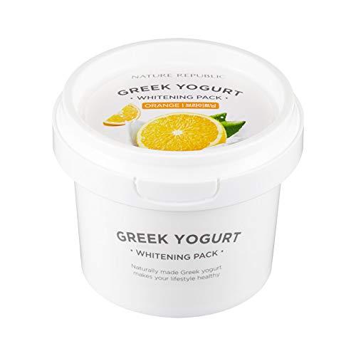 Overnight Moisturizing Sleep Mask Sheet - Nature Republic Greek Yogurt Pack Orange 130 ml / 4.39 fl. oz.