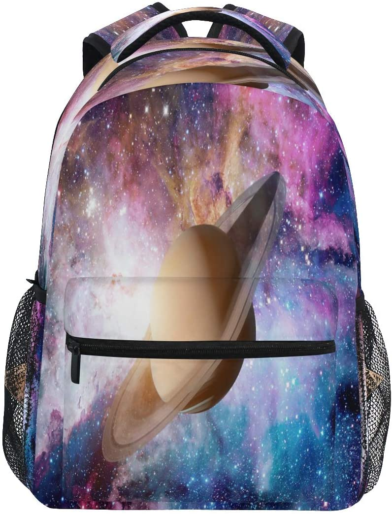 QMXO Solar System Galaxy Universe School Backpack for Boys Girls Large Capacity Bookbag Travel Bag Shoulder College Daypack School Bag Bookbag Hiking Camping