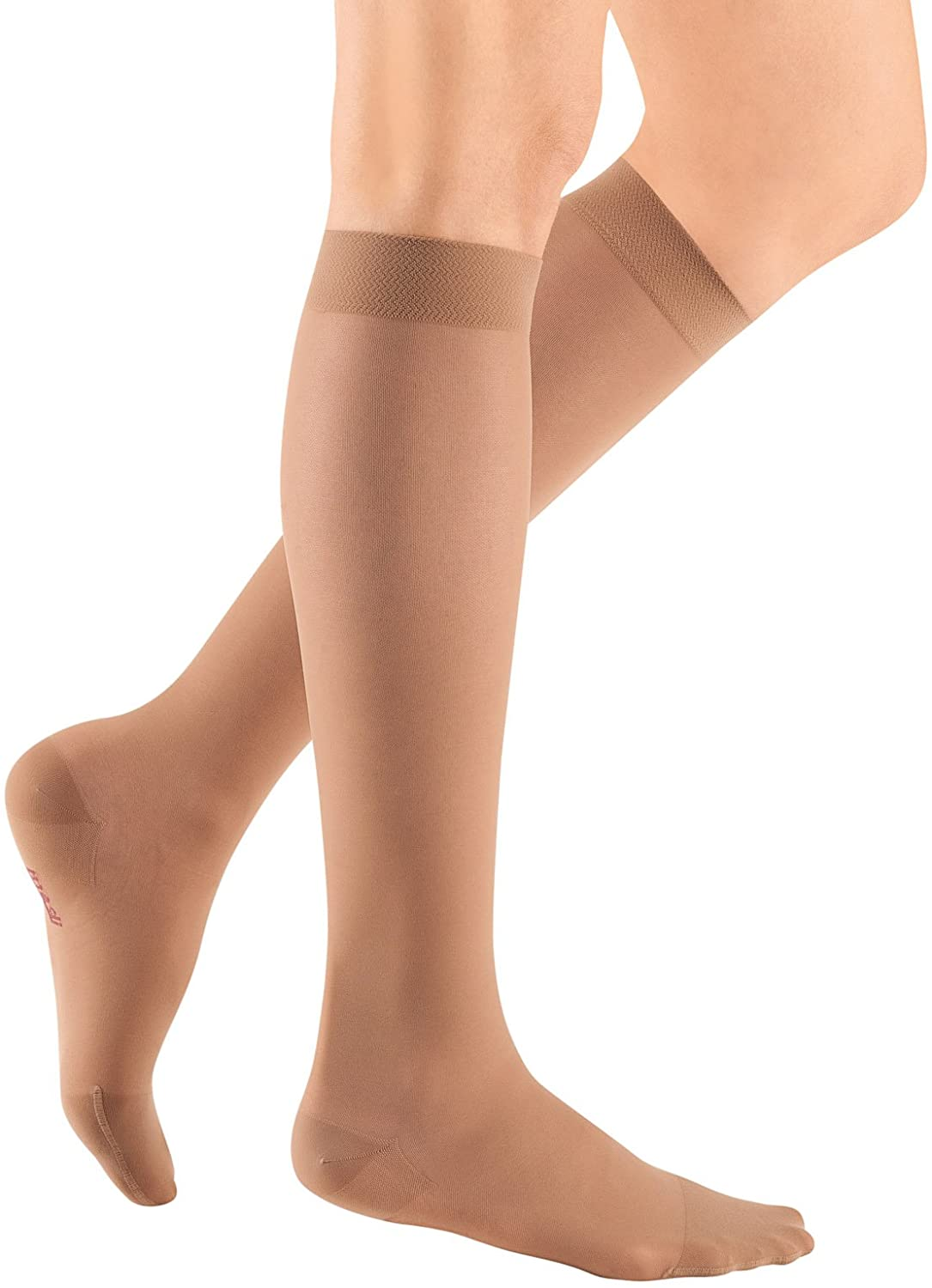 mediven Sheer & Soft, 30-40 mmHg, Calf High Compression Stockings, Closed Toe