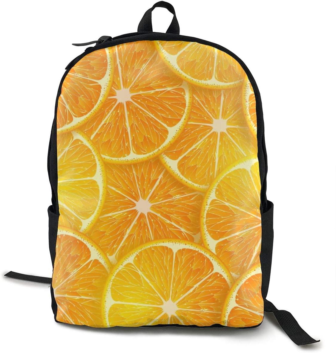 NiYoung Men Women Laptop Backpack Business Travel Anti Theft Daypack Durable College School Bookbag Computer Backpack, Cartoon Cute Orange Lemon