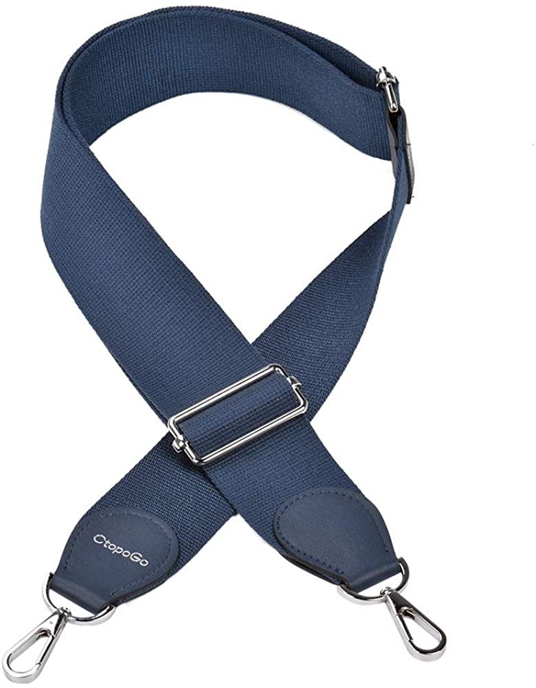 Shoulder Bag Handbag Purse Strap Crossbody Strap Adjustable Canvas Strap 35 to 52 Inch W/Hooks
