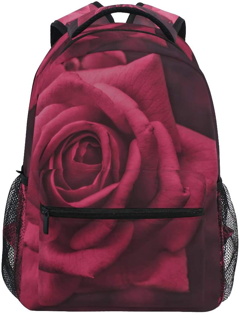 STAYTOP Romantic Rose Girl Students School Bookbag, Waterproof Laptop Backpack, Suitable for Children Men and Women Outdoor Camping Travel Daypack Casual Bags