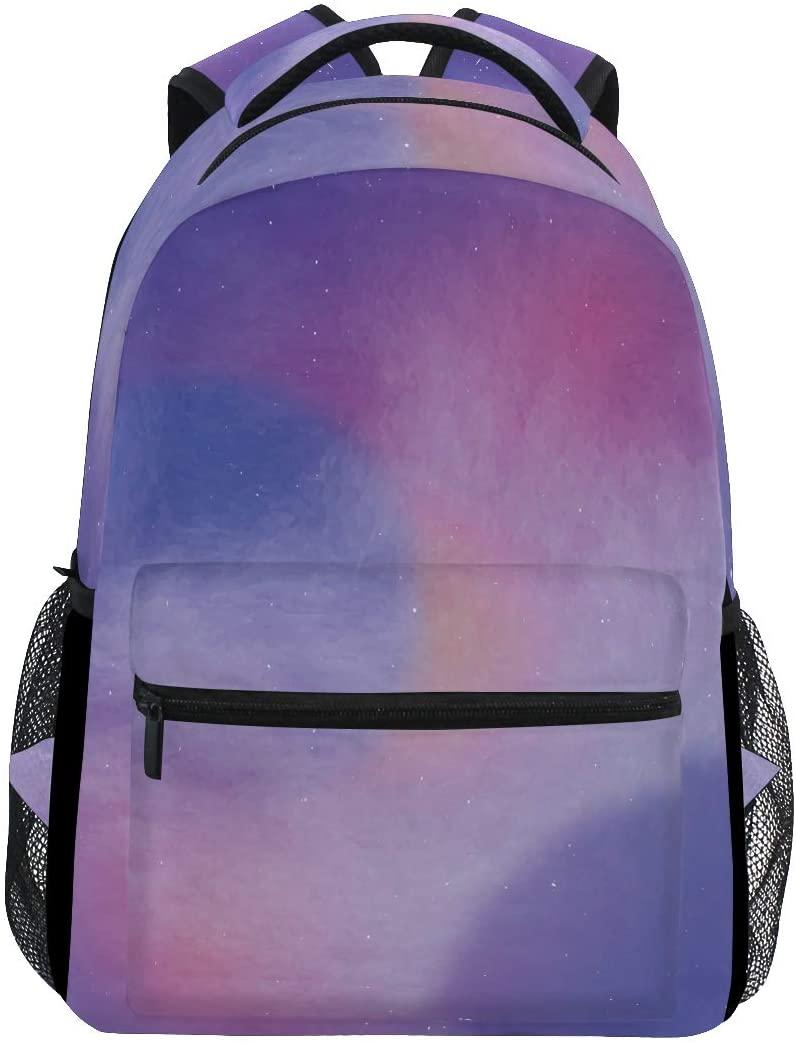 Backpacks Galaxy Purple Fashion School Book Shoulder Laptop Daypack Bags Travel for Girls Kids Boys Mens Womens
