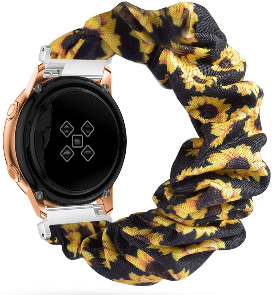 Watbro Compatible with TicWatch C2,20mm Scrunchie Band,Replacement Wristband Pattern Cute Band Straps for Ticwatch C2 for Women