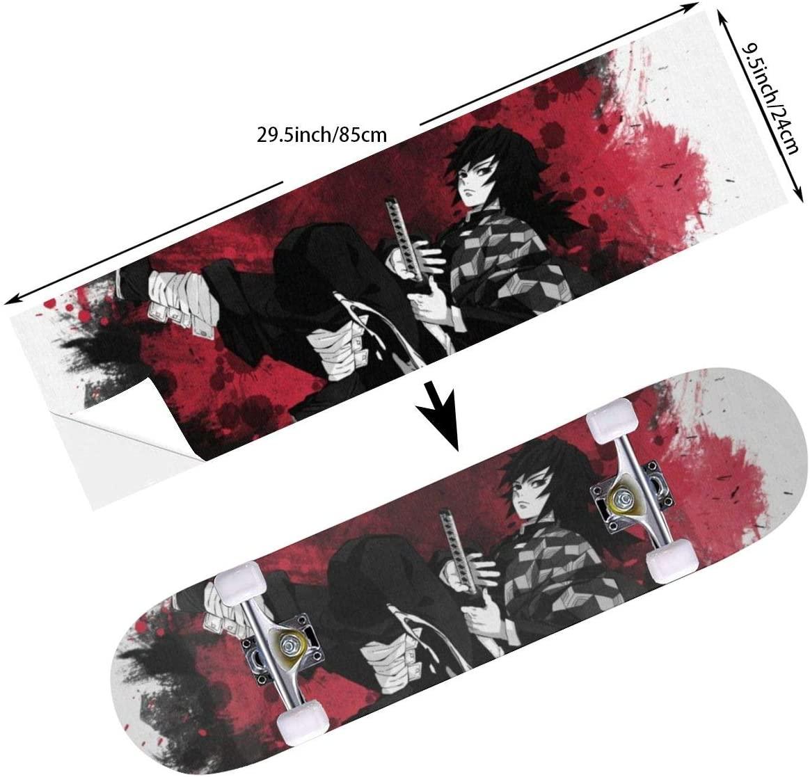 D-WOLVES Boys Skateboard Grip Tape Scooter Grip Tape, Long Board Grip Tape, Anti Slip Bubble Free Griptape