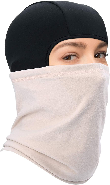 WTACTFUL Thermal Fleece Balaclava Neck Warmer Hood Cover Face Mask for Ski Snowboard Winter Gear