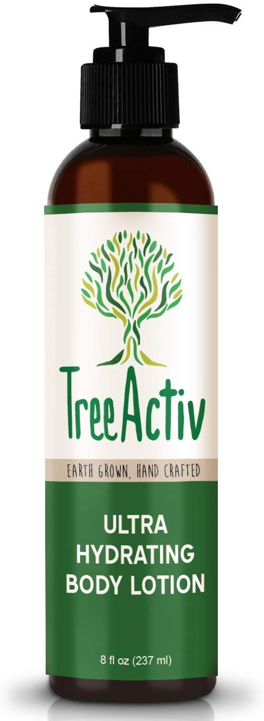 TreeActiv Ultra Hydrating Body Lotion 8 fl oz, Daily Moisturizer For Dry, Cracked, Scaly, Crepey Skin, Replenish Moisture & Prevent Wrinkles, Pumpkin Butter, Shea Butter, Honey, Cotton Thistle