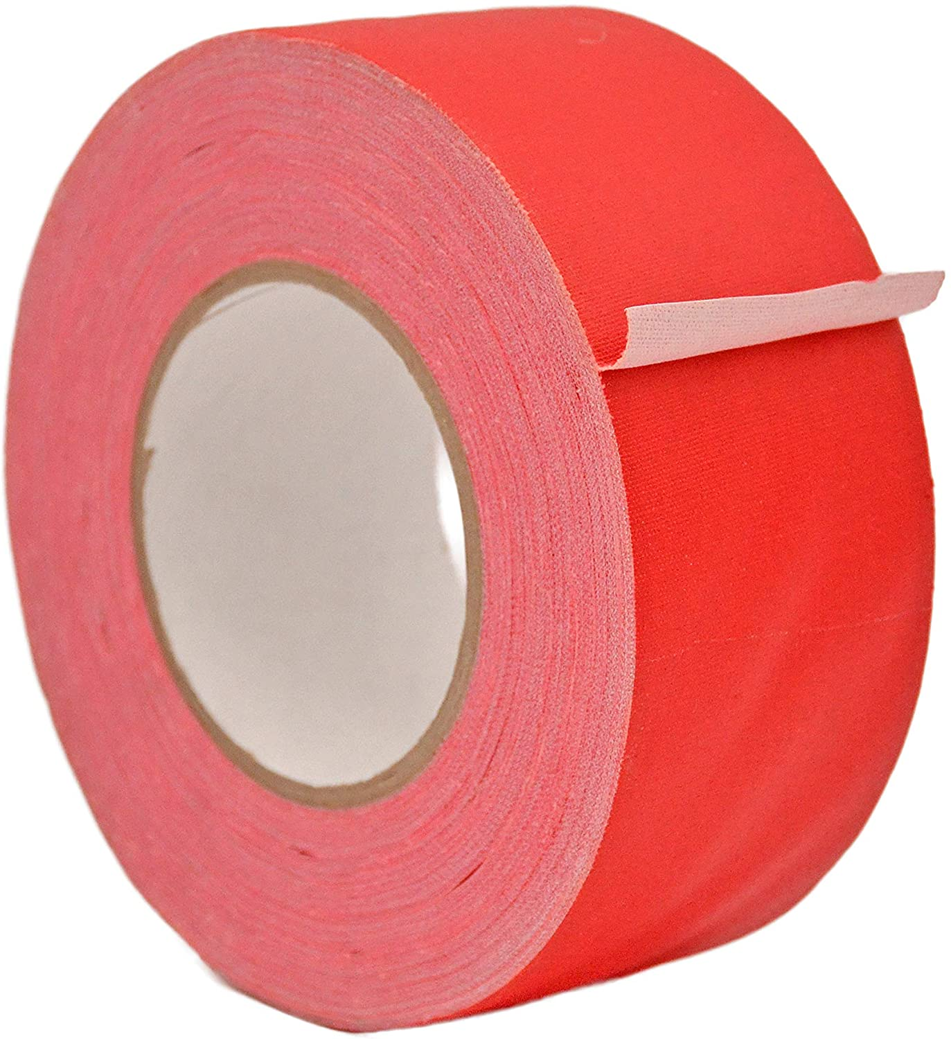 WOD GTMC12 Professional Grade Gaffer Tape, Red - 2.5 inch x 50 yds. (20-Rolls) No Sticky Residue, Secures Cables, Non Reflective, Easy to Tear, Gaff Cloth for Trade Shows, Concerts