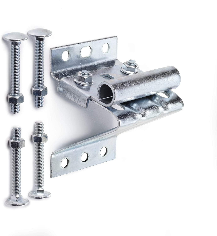 Ideal Security Inc. SK7132 Adjustable Universal Replacement for Sectional Garage Doors Top Roller Bracket, Galvanized