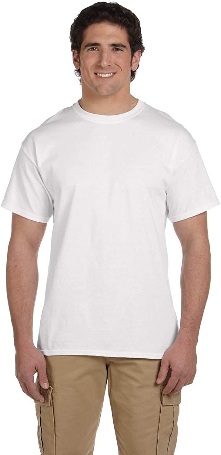 Fruit of the Loom Men's Heavy Cotton HD Undershirts (Pack of 9) S White