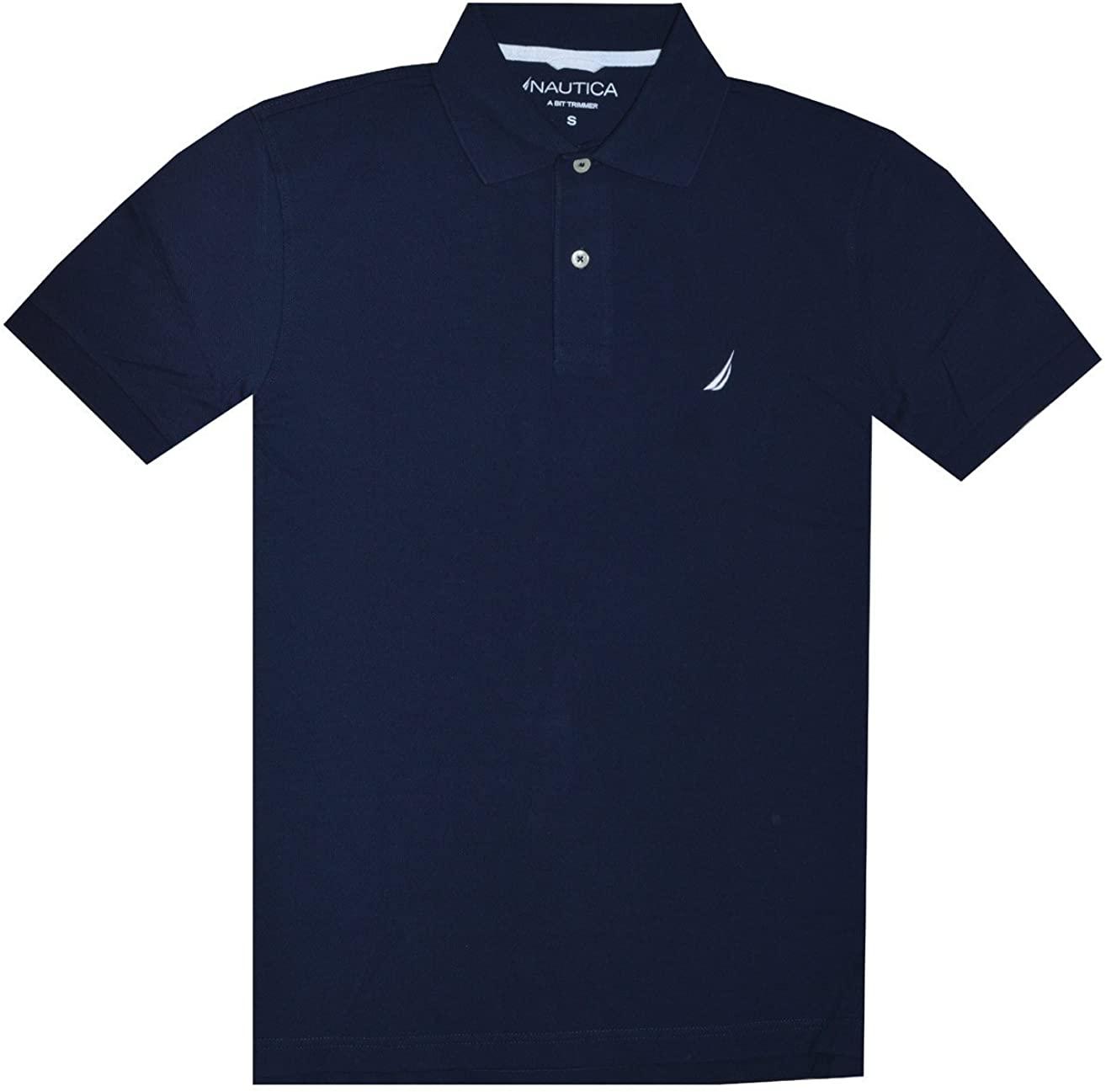 Nautica Men Slim Fit Logo Polo Pique T-Shirt