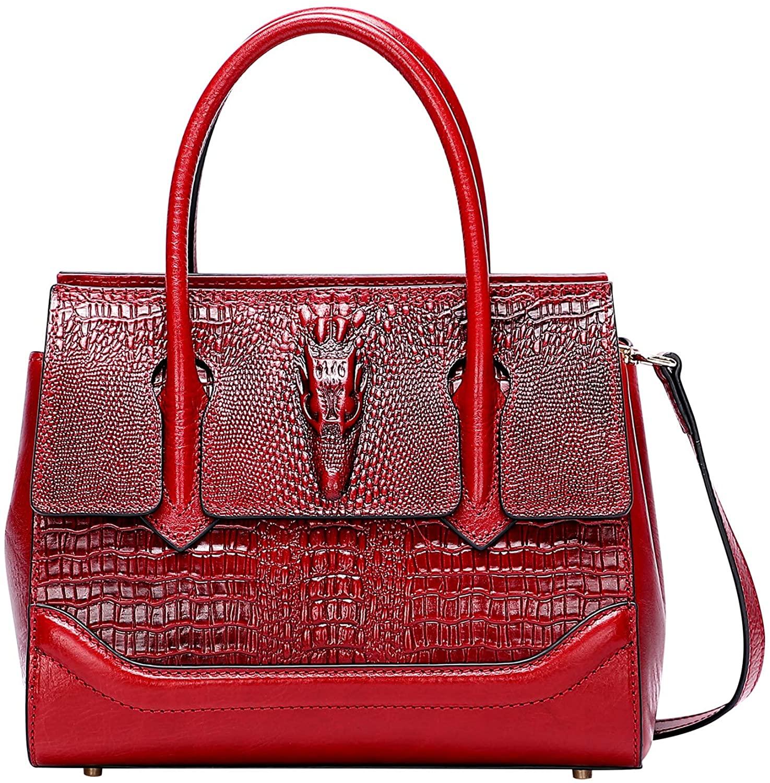 PIJUSHI Top Handle Satchel Handbag For Women Crocodile Purse Crossbody Bag