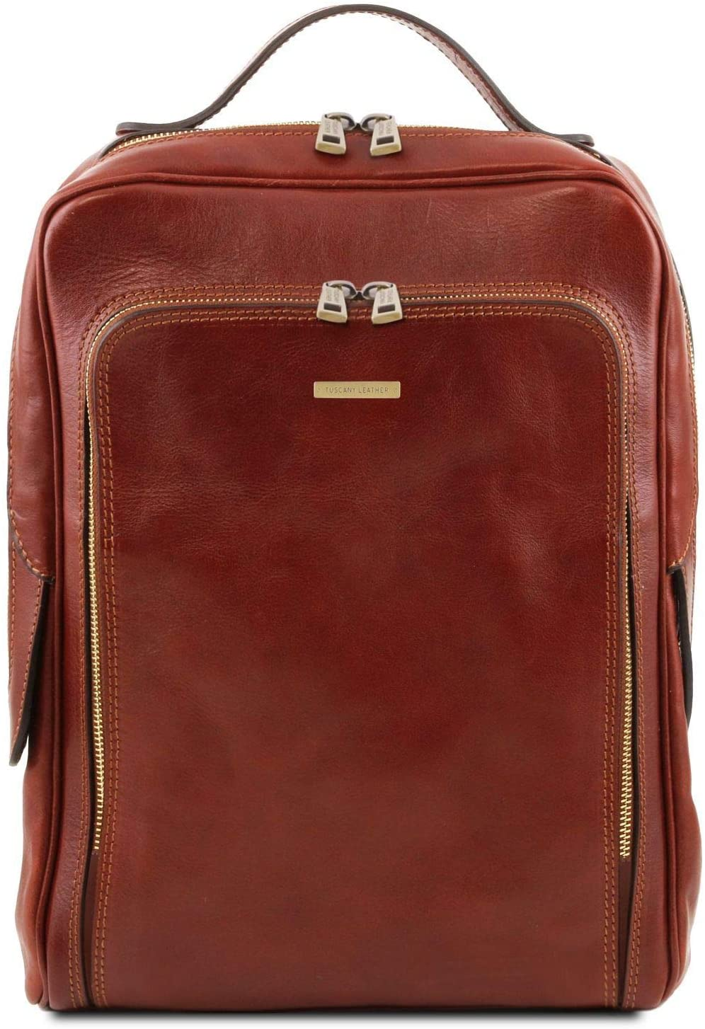 Tuscany Leather Bangkok Leather laptop backpack - TL141793 (Brown)