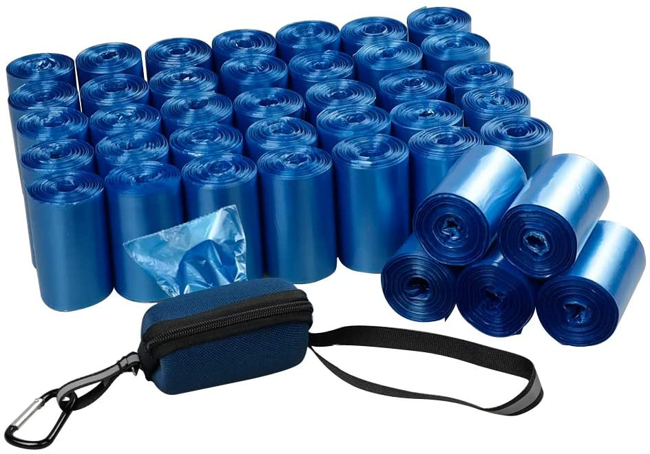 Fiaze 1400 Counts 40 Roll Dog Poop Bags Dog Waste Bags with Dispenser, Blue