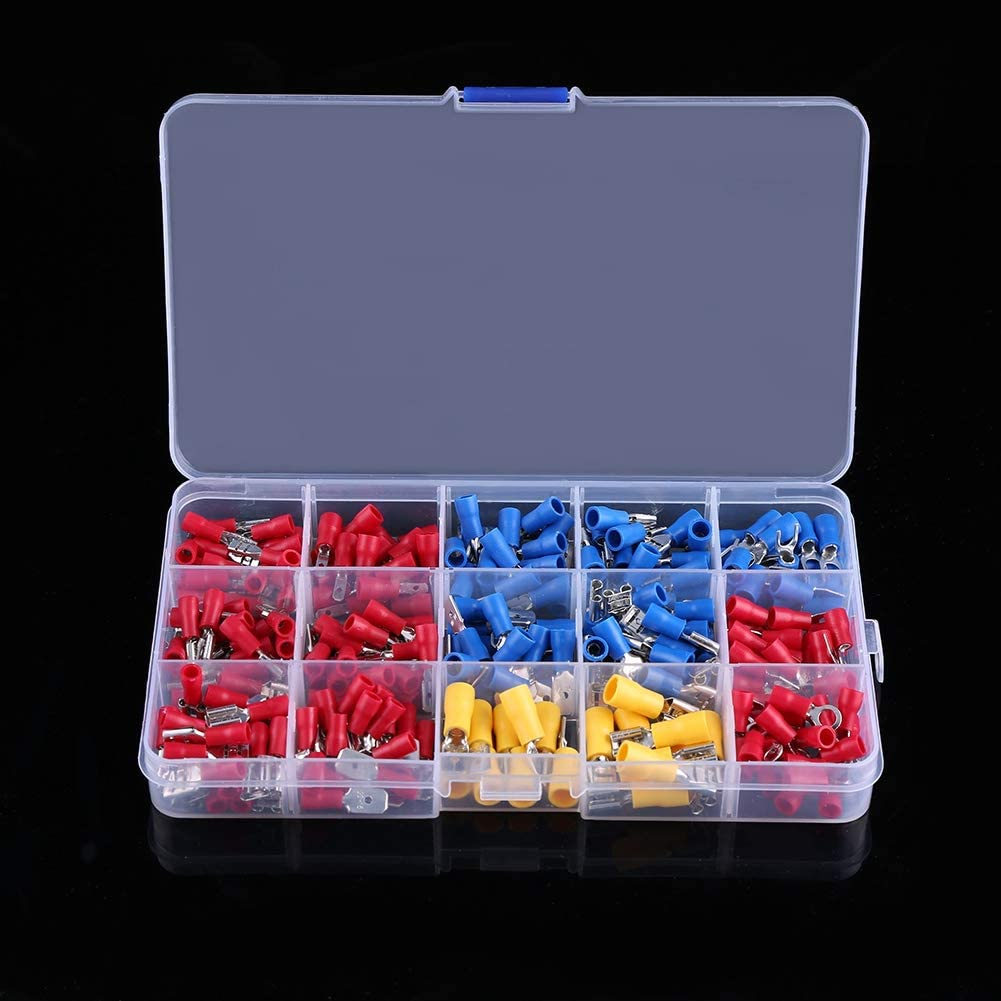 480 Pcs Assorted Insulated Electrical Wire Terminals Crimp Connectors Set, Electrical Terminal Assortment with Storage Case, Electrical Terminal Kit