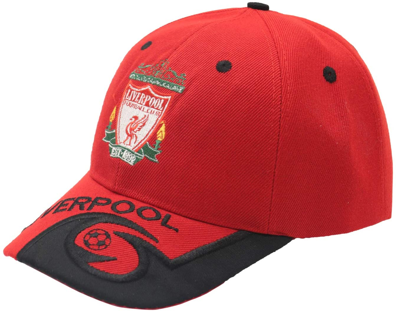 Fanbeanie Liverpool Soccer FC Cap Embroide Red Adjustable EPL Baseball Cap