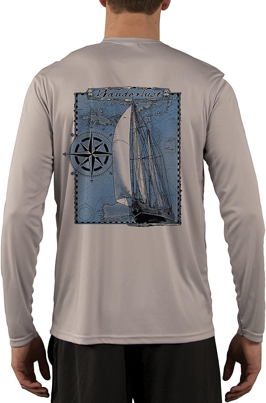 Island Lifestyle Wanderlust Men's UPF 50+ Sun Protection Long Sleeve T-Shirt