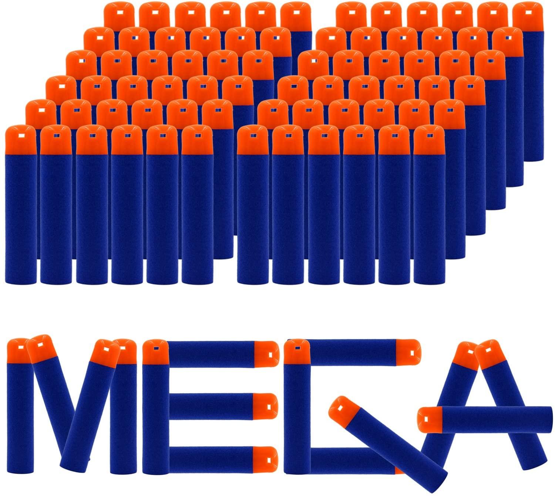 EKIND 9.5cm Foam Darts Compatible for Nerf N-Strike Elite Mega Series 72-Dart Refill Pack (Blue)