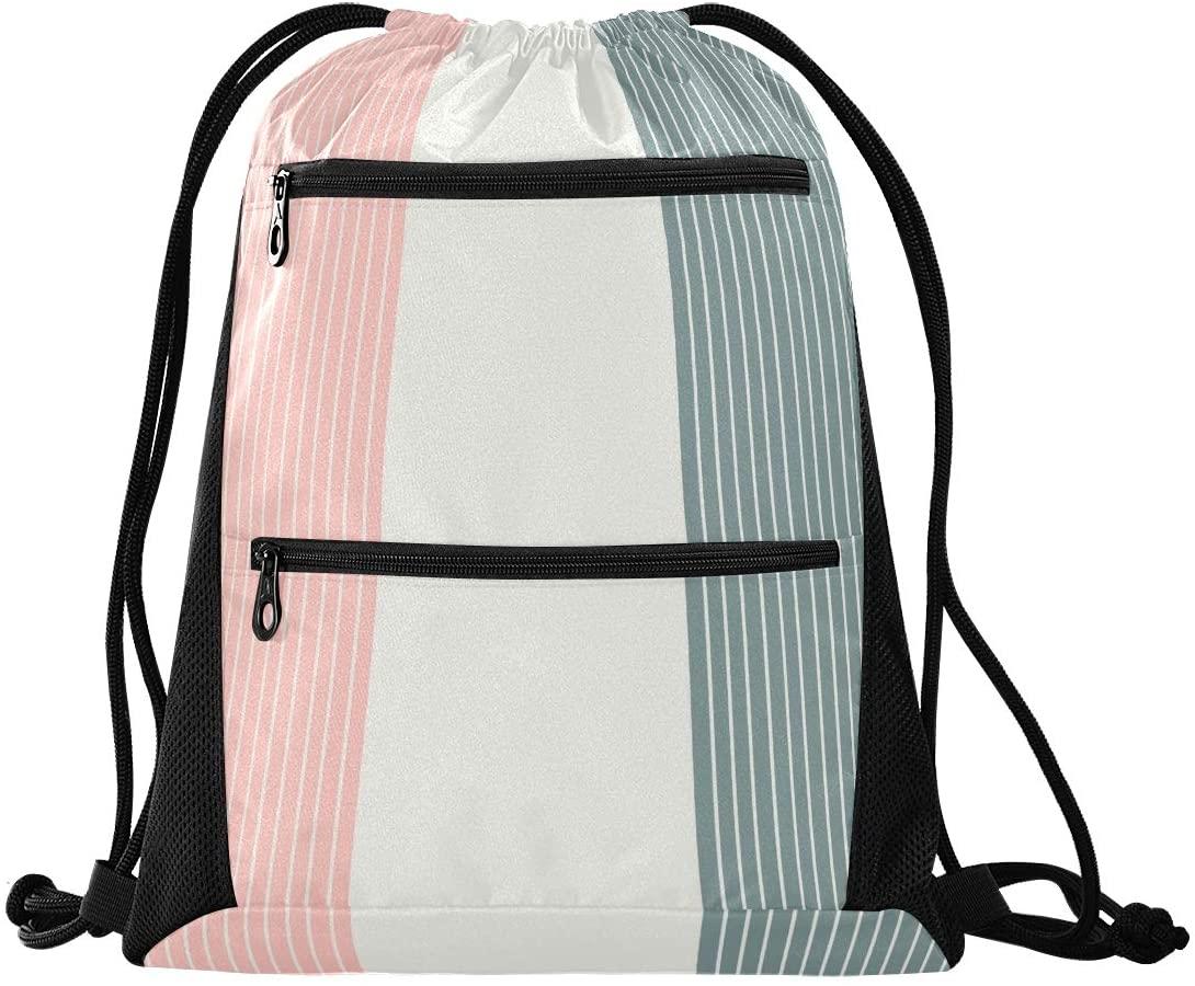 Drawstring Sports Backpack Lightweight Gym Yoga Sackpack Shoulder Rucksack Casual Outdoor Daypack For Women And Men
