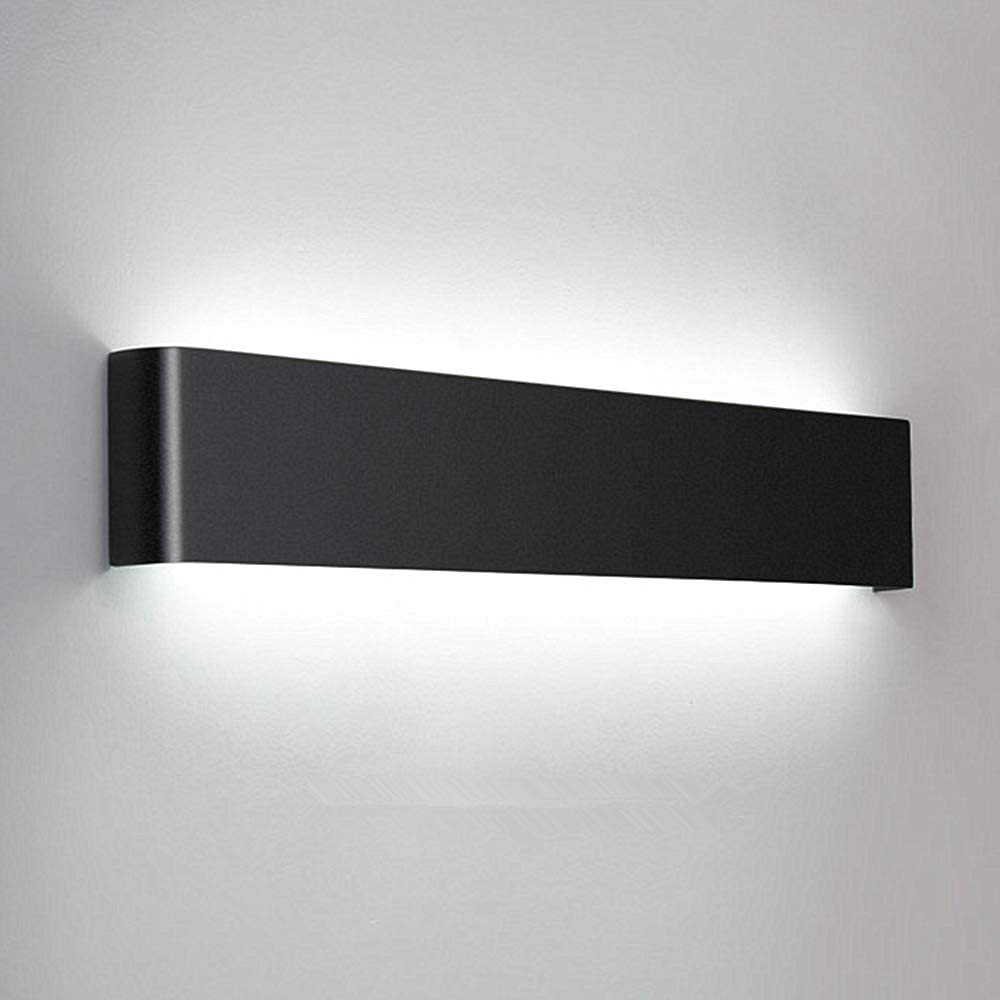 Lightess Modern Bathroom Light Fixture Over Mirror 20W/24in Up Down LED Wall Lamp Rectangular Bar Vanity Light, Black, HN213