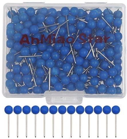 Anmiao Star 200Pcs 1/8 Inch Map Tacks (Blue)
