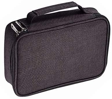 Becho Multifunction Zipper Pencil Case High Capacity Holder Pouch Pen Bag Colored Pencil Pen Box 72 Slots (Black)