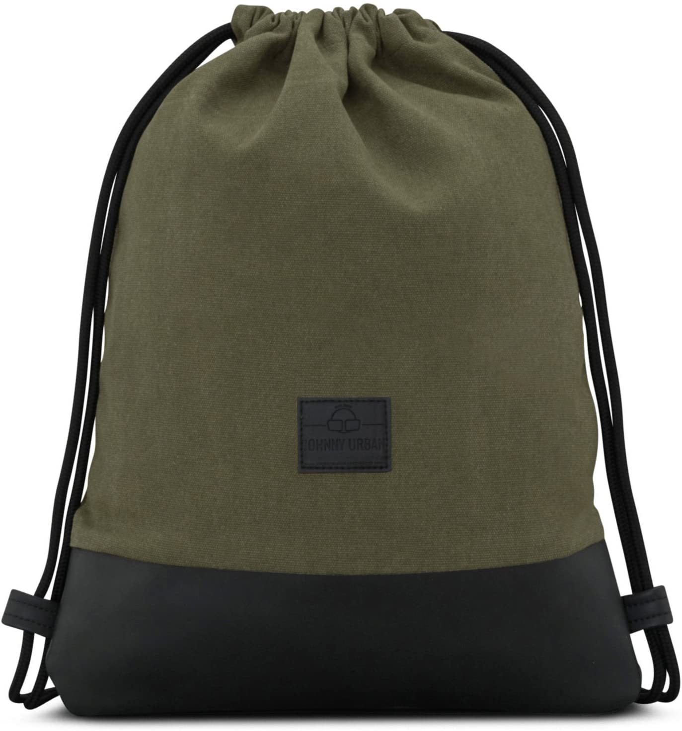 Drawstring Bag Cotton Green JOHNNY URBAN Canvas Gymsack Sackpack Sack Men & Women