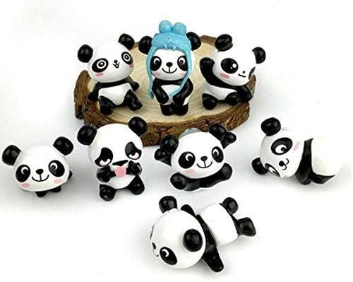 8 Pack Fridge Magnets Panda Refrigerator Office Magnets for Calendars, Whiteboards, Maps, Dry Erase Board, Bulletin Board