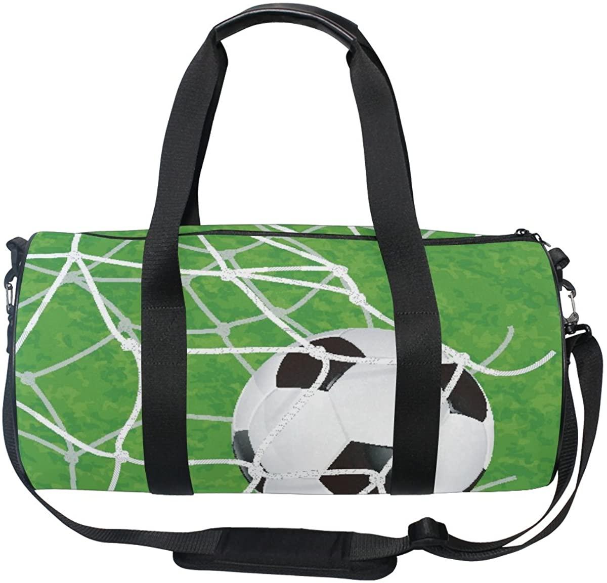 ALAZA Stylish Soccer Ball Sports Gym Duffel Bag Travel Luggage Handbag for Men Women